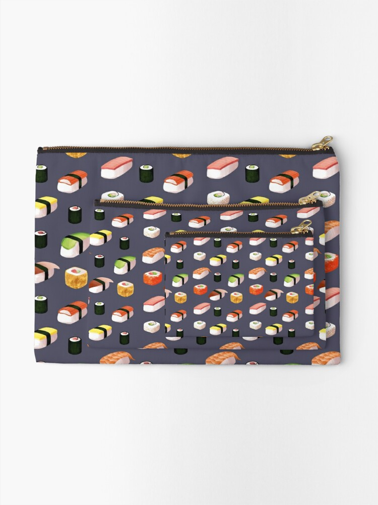 Alternate view of sushi Zipper Pouch