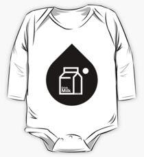 Milk - (Black) Long Sleeve Baby One-Piece