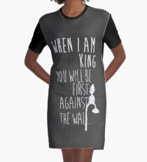 """When I am King, you will be first against the wall."" Radiohead - Light Graphic T-Shirt Dress"