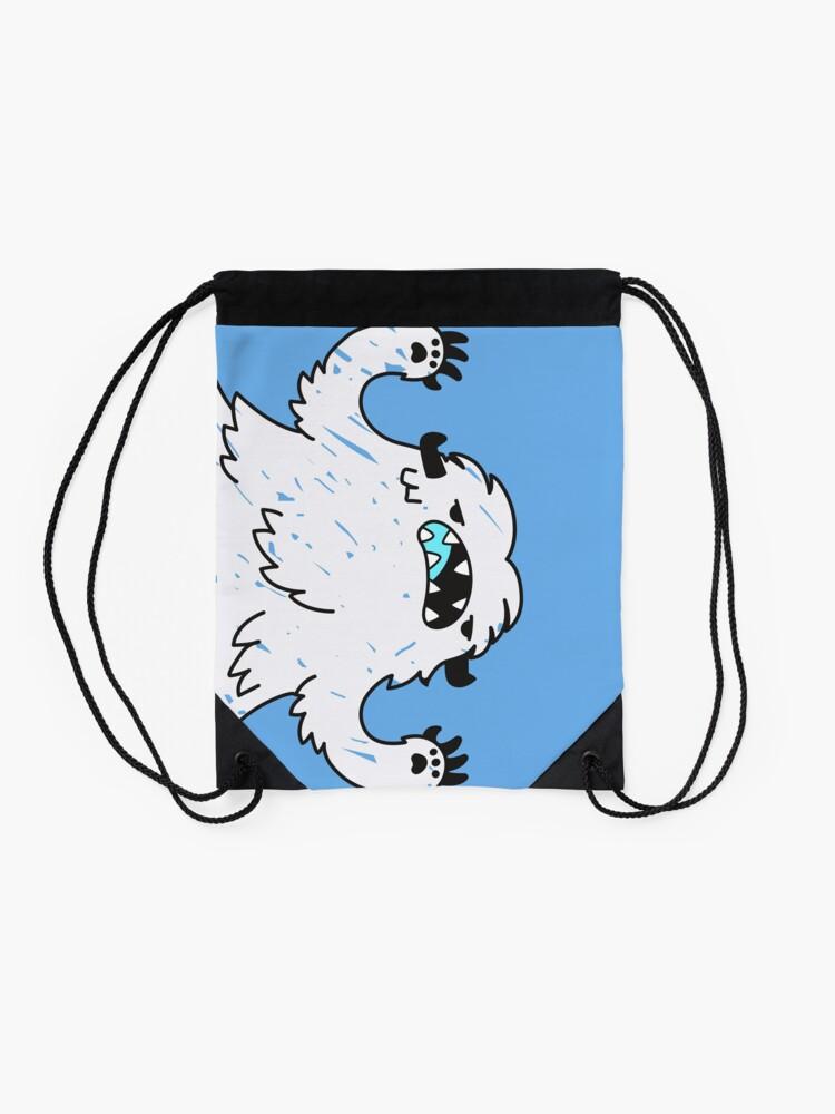 Alternate view of Sk8 Yeti Drawstring Bag