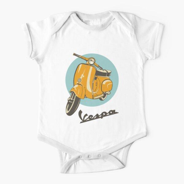 Classic Vespa Short Sleeve Baby One-Piece