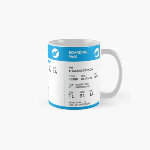 Boarding Pass 4000x1660 KL53 Classic Mug