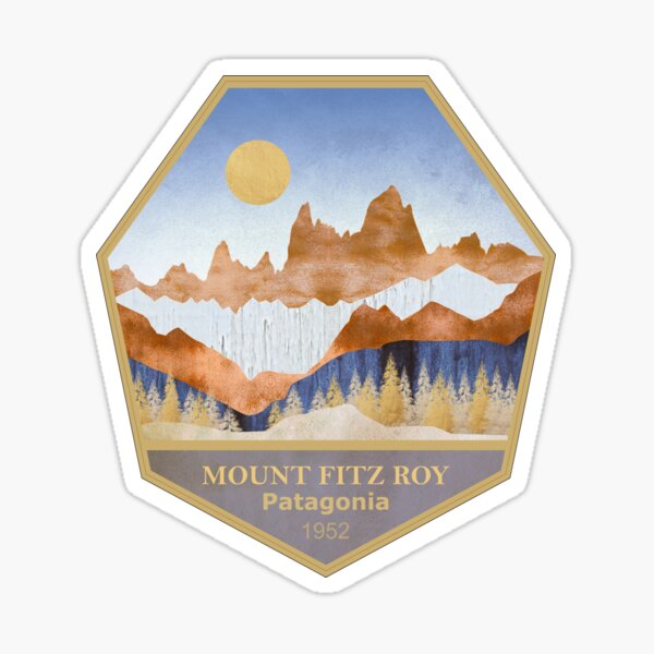 Mount Fitz Roy - Patagonia - Abstract Landscape Sticker