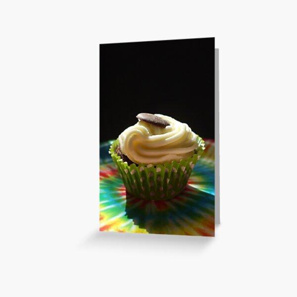 tiedye cupcake Greeting Card