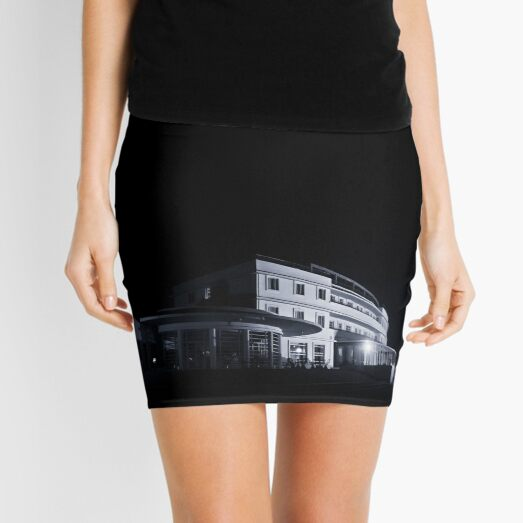 The Midland Hotel, Morecambe at night Mini Skirt