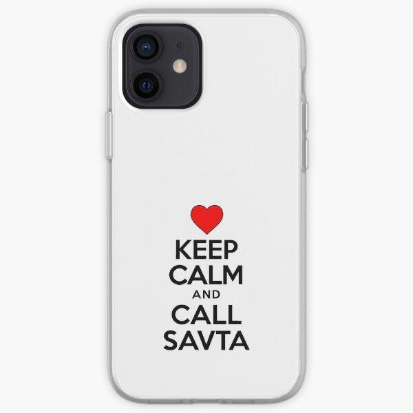Keep Calm Call Savta Jewish Grandmother Cute Heart iPhone Soft Case