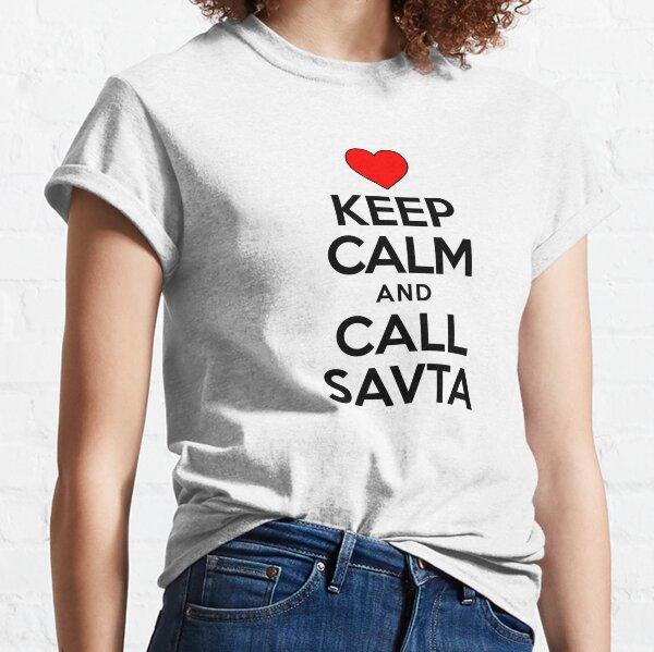 Keep Calm Call Savta Jewish Grandmother Cute Heart Classic T-Shirt