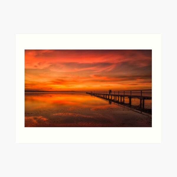 Long Jetty Sunset Art Print