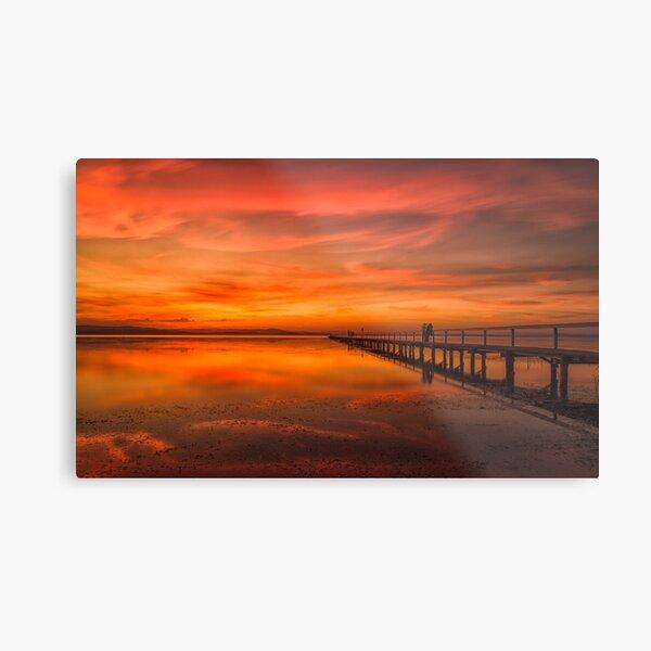 Long Jetty Sunset Metal Print