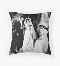 1909 Olga & Folke in Paris Throw Pillow