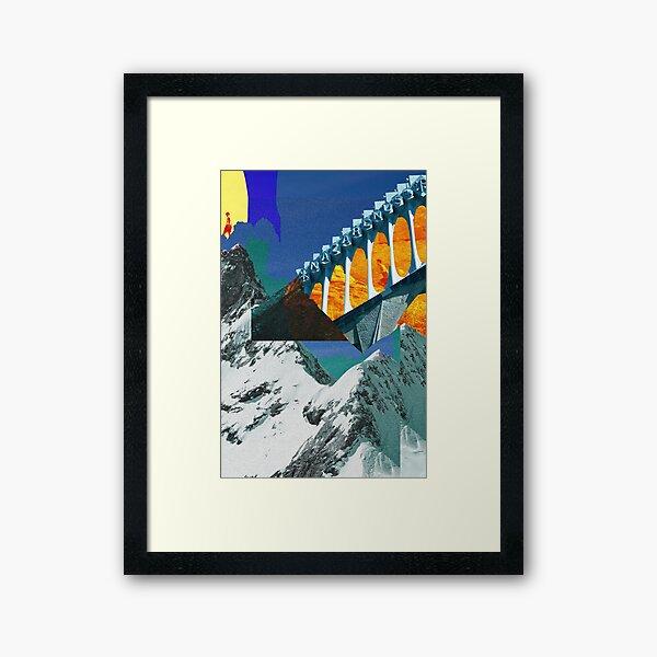 Jungfrau meets Monument Valley meets Barcelona Framed Art Print