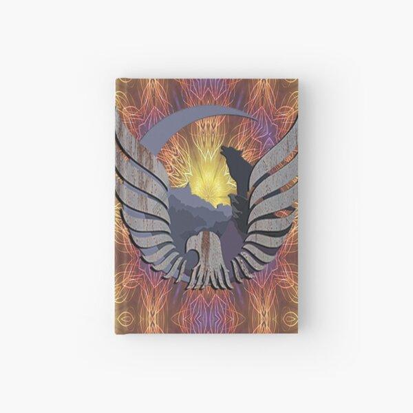 Native American Spiritual Nature Mountain Design, Eagle & Wolf Hardcover Journal