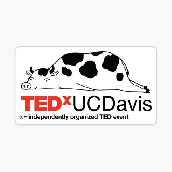 TEDxUCDavis Cow Sticker