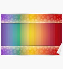 Colorful Rainbow Striped and Polka Dot Spectrum Poster