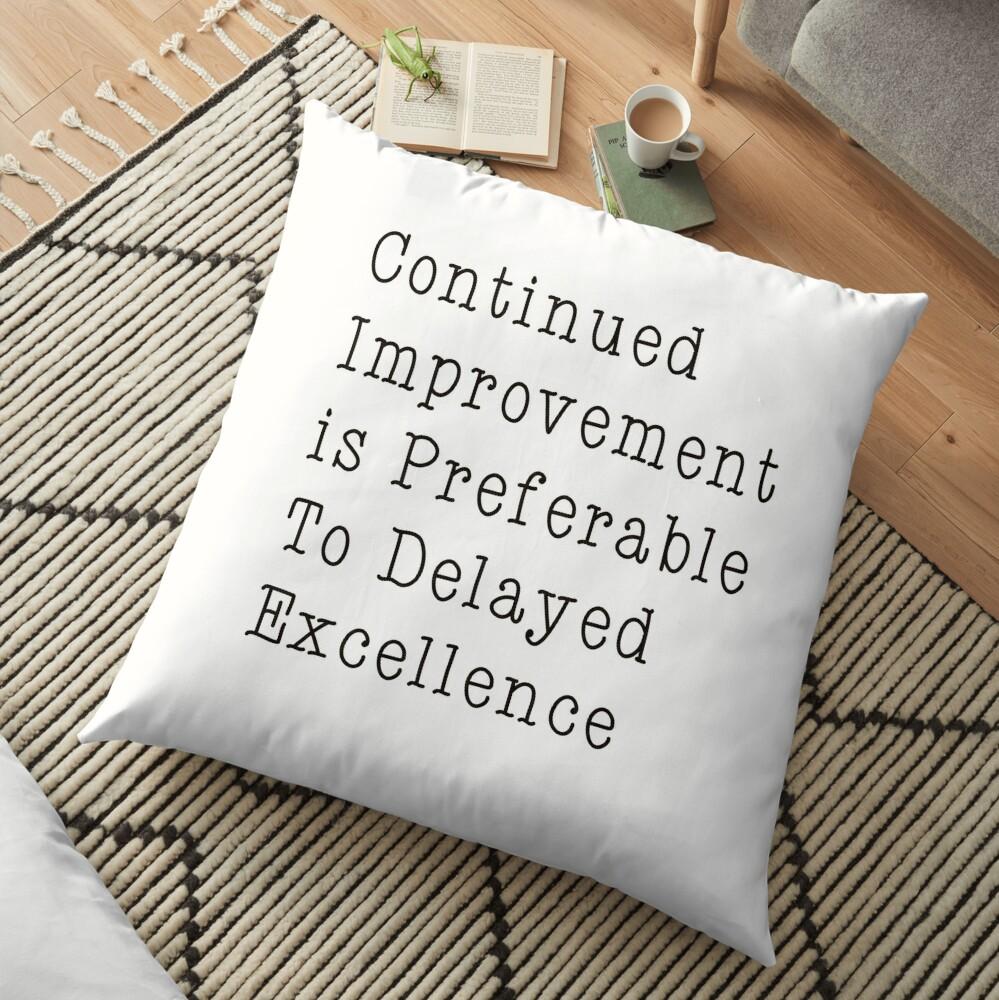 Motivational Quote  Floor Pillow