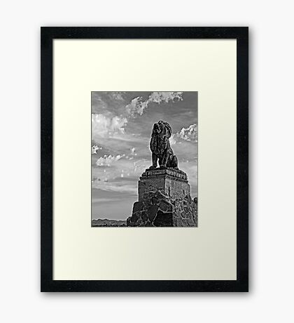 Lion on Grotto Hill 2 Framed Print