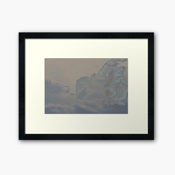 Utah skies meets Bergpark Sculpture Framed Art Print