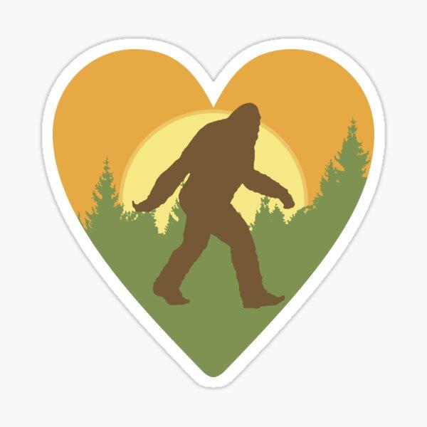 Bigfoot Heart Sticker