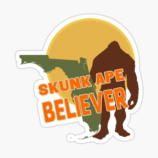 Florida's Skunk Ape Sticker