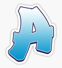 Letter A Blue Sticker