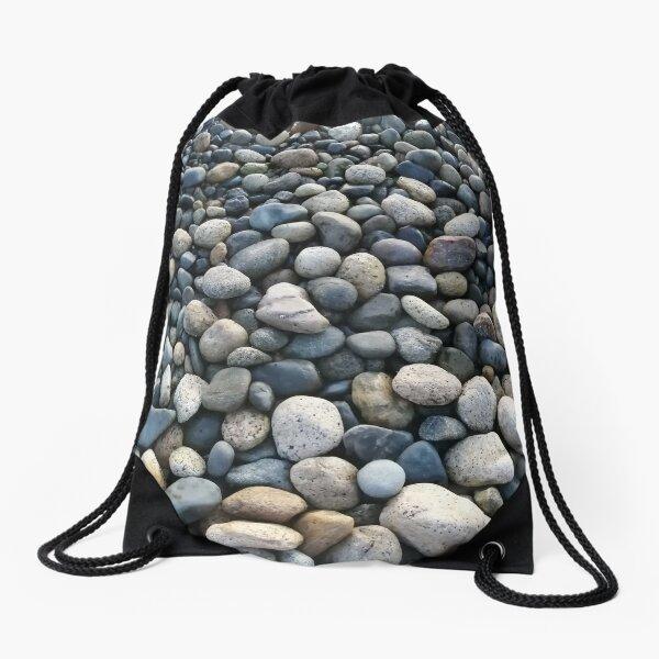 Pebble Beach at Sunshine Coast, BC Drawstring Bag