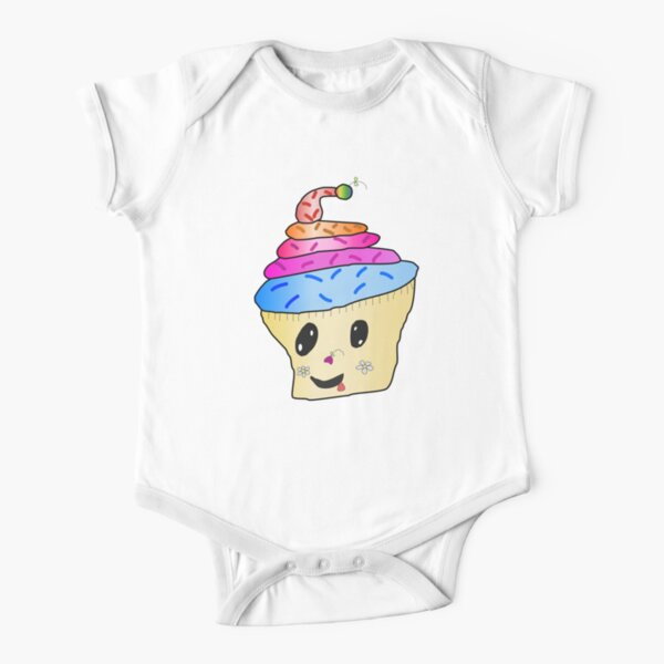 Connie's cute cupcake character Short Sleeve Baby One-Piece