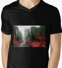 "INSAMNIA's ""Red Thorn Pass"" Mens V-Neck T-Shirt"