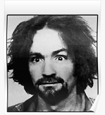 Charles Manson Mugshot Poster