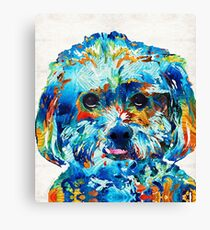 Colorful Dog Art - Lhasa Love - By Sharon Cummings Canvas Print