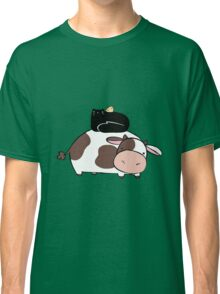 Cow Black Cat and Chick Classic T-Shirt