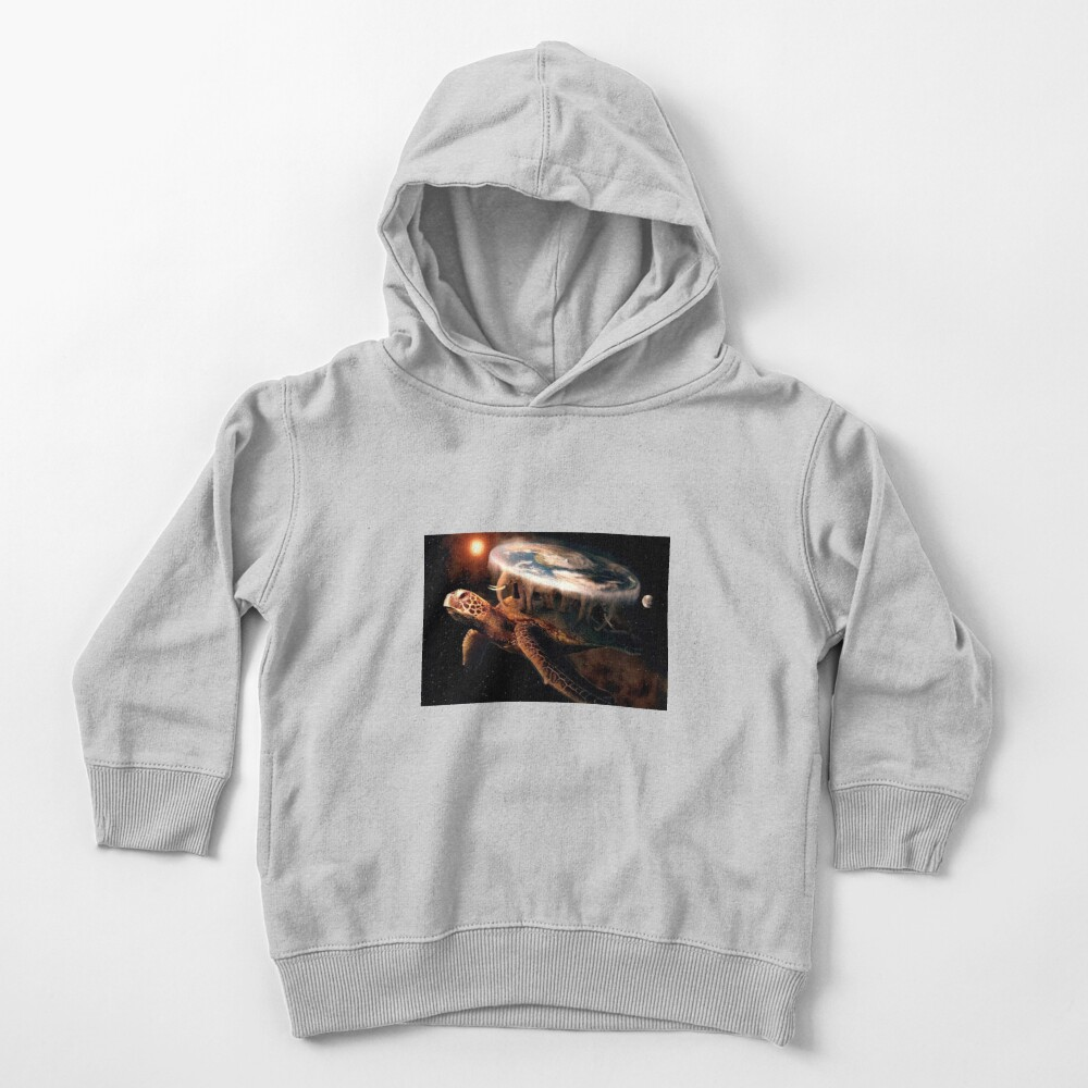 Flat Earth Turtle Toddler Pullover Hoodie