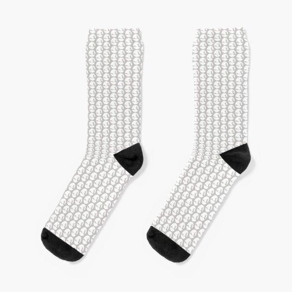 NVINY Logo White Socks