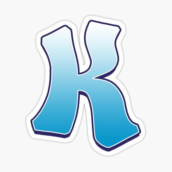 Letter K Blue Sticker