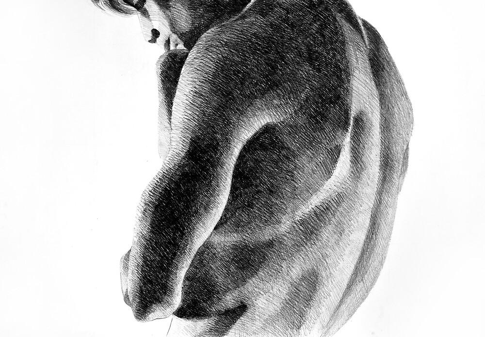Melancholy, 2011, 100-70cm, graphite crayon by oanaunciuleanu