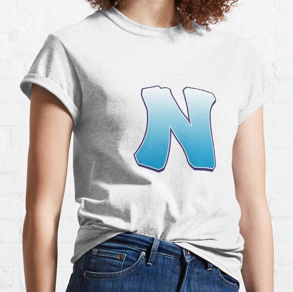 Letter N Blue Classic T-Shirt