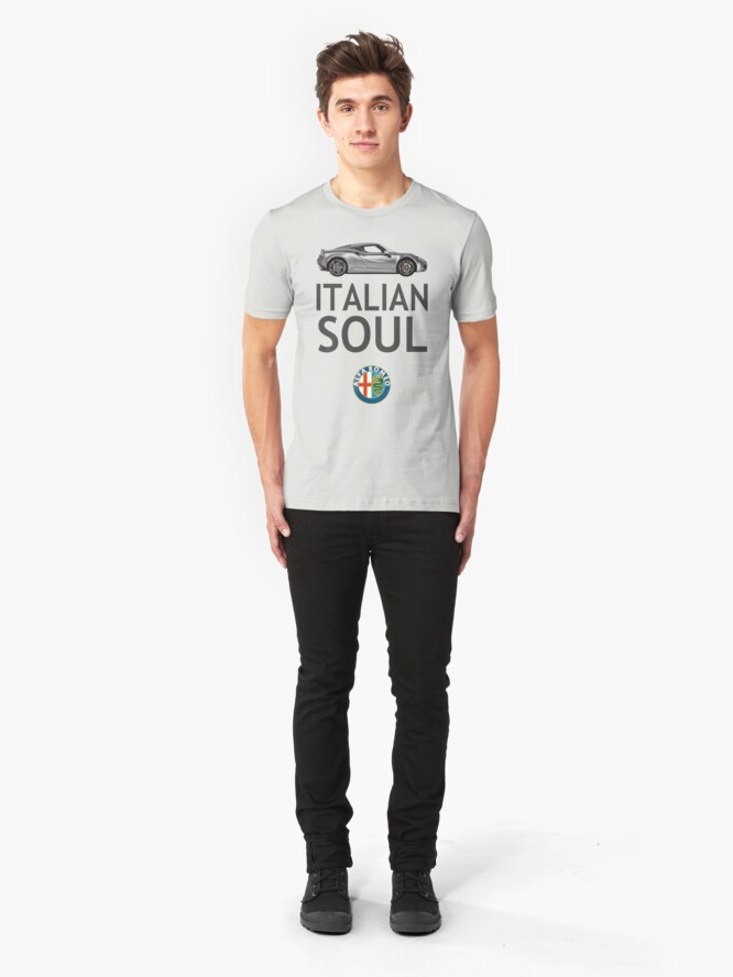 Alternate view of Italian Soul (minus ARoB logo) Slim Fit T-Shirt