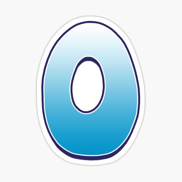 Letter O Blue Sticker