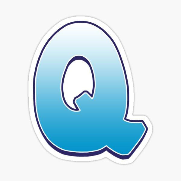 Letter Q Blue Sticker