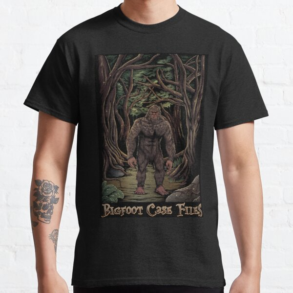 Bigfoot Encounter On Forest Trail Classic T-Shirt