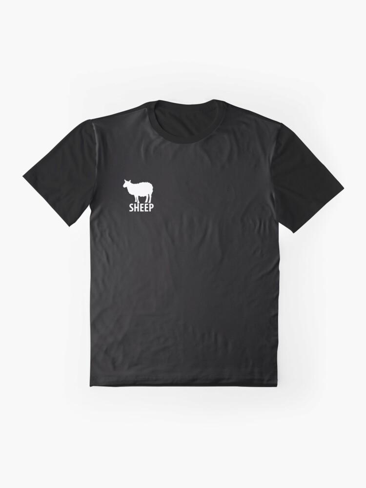 Alternate view of Sheep Troll Coronavirus covid anti mask covid19 Graphic T-Shirt