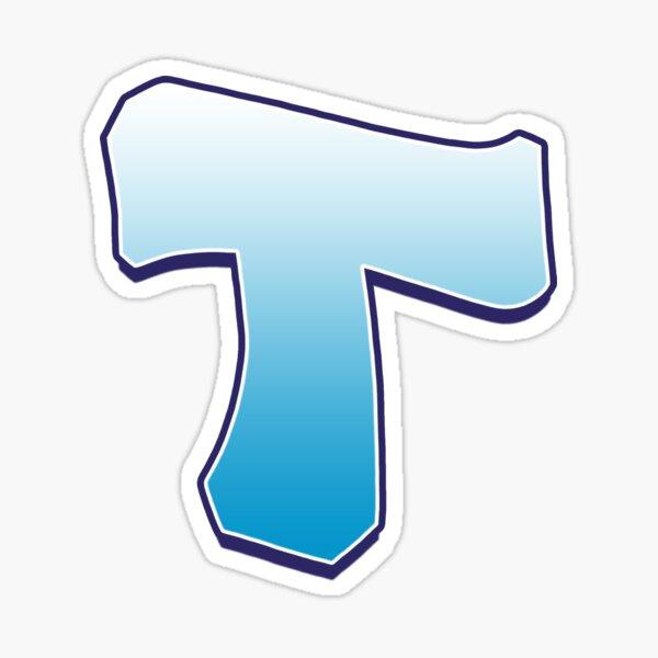 Letter T Blue Sticker