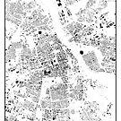 Warszawa Karte Schwarzplan Nur Gebäude Urban Plan von HubertRoguski