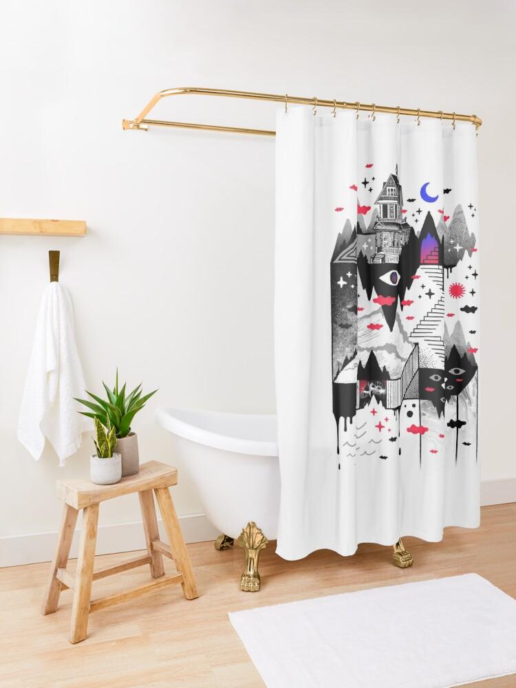 Alternate view of Abysm Shower Curtain