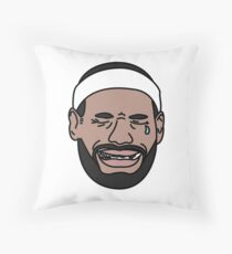 Lebron dont cry Throw Pillow