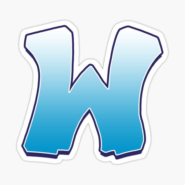 Letter W Blue Sticker