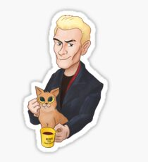 Spike and a kitten Sticker