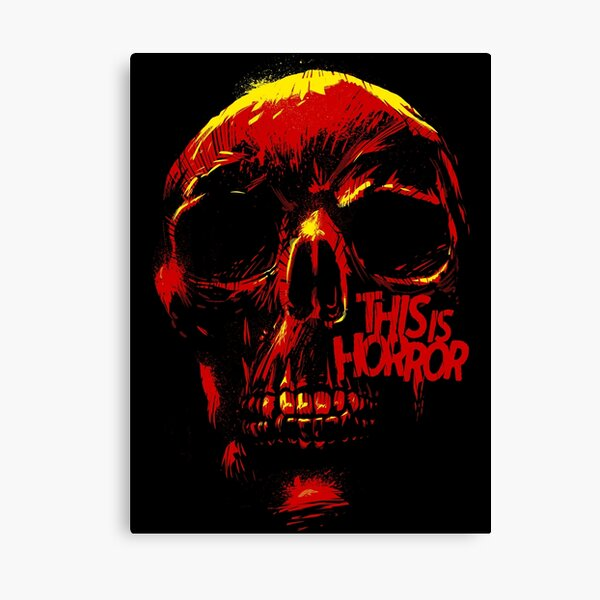 This Is Horror Classic Red on Black Skull Canvas Print
