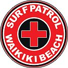 SURF PATROL LIFEGUARD WAIKIKI BEACH HAWAII Surf Surfer Surfboard Waves Ocean Beach Vacation by MyHandmadeSigns