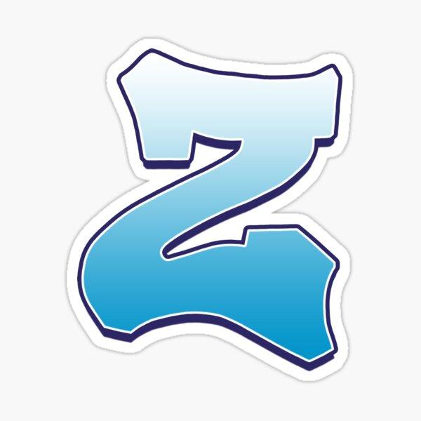 Letter Z Blue Sticker