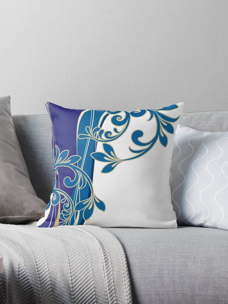 Blue Floral Waves by hmclark